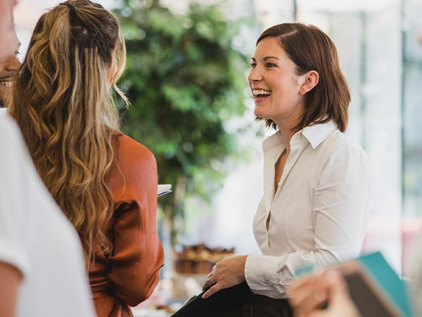 onboarding - woman welcomed into the workplace